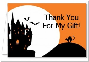 Haunted House - Halloween Thank You Cards