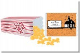 Haunted House with Bats - Personalized Popcorn Wrapper Halloween Favors