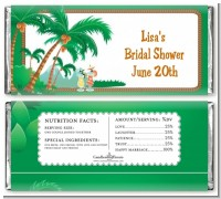 Hawaiian Luau - Personalized Bridal Shower Candy Bar Wrappers