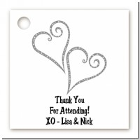Hearts - Personalized Bridal Shower Card Stock Favor Tags