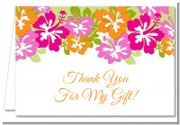 Hibiscus - Bridal Shower Thank You Cards
