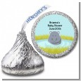 Hippopotamus Boy - Hershey Kiss Baby Shower Sticker Labels thumbnail