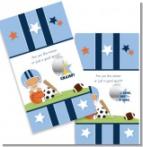 Sports Baby Hispanic - Baby Shower Scratch Off Game Tickets