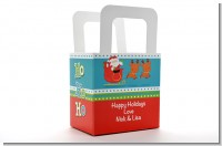 Santa And His Reindeer - Personalized Christmas Favor Boxes