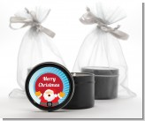 Ho Ho Ho Santa Claus - Christmas Black Candle Tin Favors