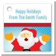 Ho Ho Ho Santa Claus - Personalized Christmas Card Stock Favor Tags thumbnail