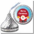 Ho Ho Ho Santa Claus - Hershey Kiss Christmas Sticker Labels thumbnail