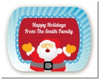 Ho Ho Ho Santa Claus - Personalized Christmas Rounded Corner Stickers