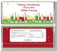 Holiday Cocktails - Personalized Christmas Candy Bar Wrappers thumbnail