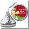 Holiday Cocktails - Hershey Kiss Christmas Sticker Labels thumbnail