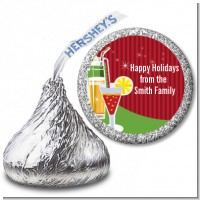 Holiday Cocktails - Hershey Kiss Christmas Sticker Labels