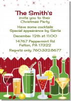 Holiday Cocktails - Christmas Invitations