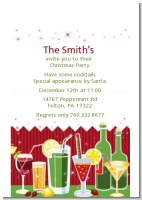 Holiday Cocktails - Christmas Petite Invitations