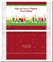 Holiday Cocktails - Personalized Popcorn Wrapper Christmas Favors