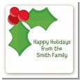 Holly - Square Personalized Christmas Sticker Labels thumbnail