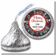 Holly Berries - Hershey Kiss Christmas Sticker Labels thumbnail
