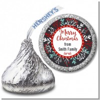 Holly Berries - Hershey Kiss Christmas Sticker Labels
