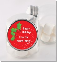 Holly - Personalized Christmas Candy Jar