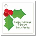Holly - Personalized Christmas Card Stock Favor Tags thumbnail