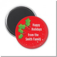 Holly - Personalized Christmas Magnet Favors