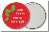 Holly - Personalized Christmas Pocket Mirror Favors