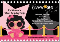 Hollywood Diva on the Pink Carpet - Birthday Party Invitations