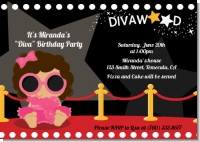 Hollywood Diva on the Red Carpet - Birthday Party Invitations