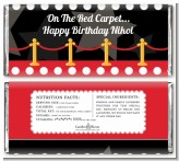 Hollywood Red Carpet - Personalized Birthday Party Candy Bar Wrappers