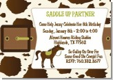 Horse - Birthday Party Invitations