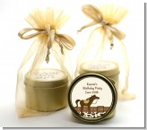 Horse - Birthday Party Gold Tin Candle Favors