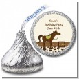 Horse - Hershey Kiss Birthday Party Sticker Labels thumbnail