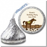 Horse - Hershey Kiss Birthday Party Sticker Labels