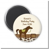 Horse - Personalized Birthday Party Magnet Favors