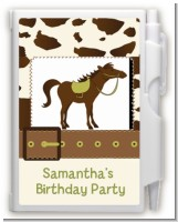 Horse - Birthday Party Personalized Notebook Favor