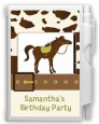 Horse - Birthday Party Personalized Notebook Favor thumbnail