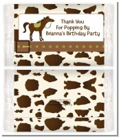 Horse - Personalized Popcorn Wrapper Birthday Party Favors