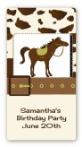 Horse - Custom Rectangle Birthday Party Sticker/Labels