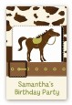 Horse - Custom Large Rectangle Birthday Party Sticker/Labels thumbnail