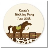 Horse - Round Personalized Birthday Party Sticker Labels