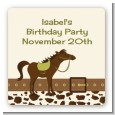 Horse - Square Personalized Birthday Party Sticker Labels thumbnail