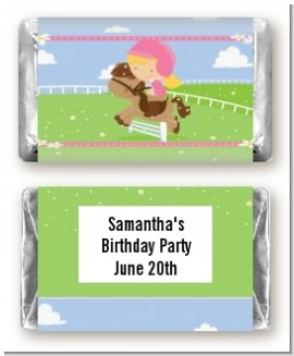 Horseback Riding - Personalized Birthday Party Mini Candy Bar Wrappers