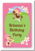 Horseback Riding - Custom Large Rectangle Birthday Party Sticker/Labels