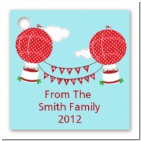 Hot Air Balloons - Personalized Christmas Card Stock Favor Tags