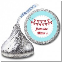 Hot Air Balloons - Hershey Kiss Christmas Sticker Labels