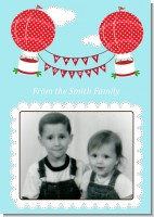 Hot Air Balloons - Personalized Photo Christmas Cards