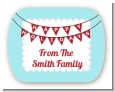 Hot Air Balloons - Personalized Christmas Rounded Corner Stickers thumbnail