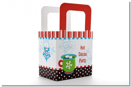 Hot Cocoa Party - Personalized Christmas Favor Boxes