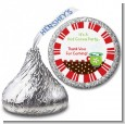 Hot Cocoa Party - Hershey Kiss Christmas Sticker Labels thumbnail