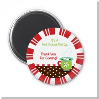 Hot Cocoa Party - Personalized Christmas Magnet Favors
