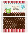 Hot Cocoa Party - Personalized Popcorn Wrapper Christmas Favors thumbnail